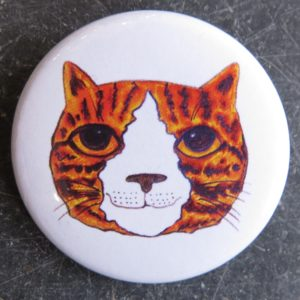 lapel pin badge - ginger cat