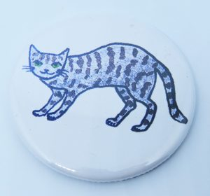 tabby cat, fridgemagnet, cat gifts, cat artwork, cat designs, pawprint designs, jane adams