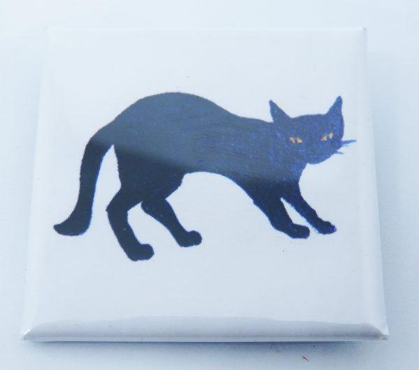 square lapel badge, lapel pin, pin badge, cat themed gifts, cat products, cat designs, jane adams, pawprint desings, the jane adams gallery