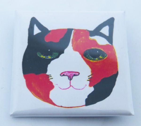 pin badge, badge, lapel pin, tortie cat, cat gifts, jane adams,