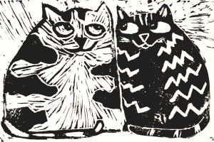 card, greetings card, birthday card, linocut, jane adams ceramics