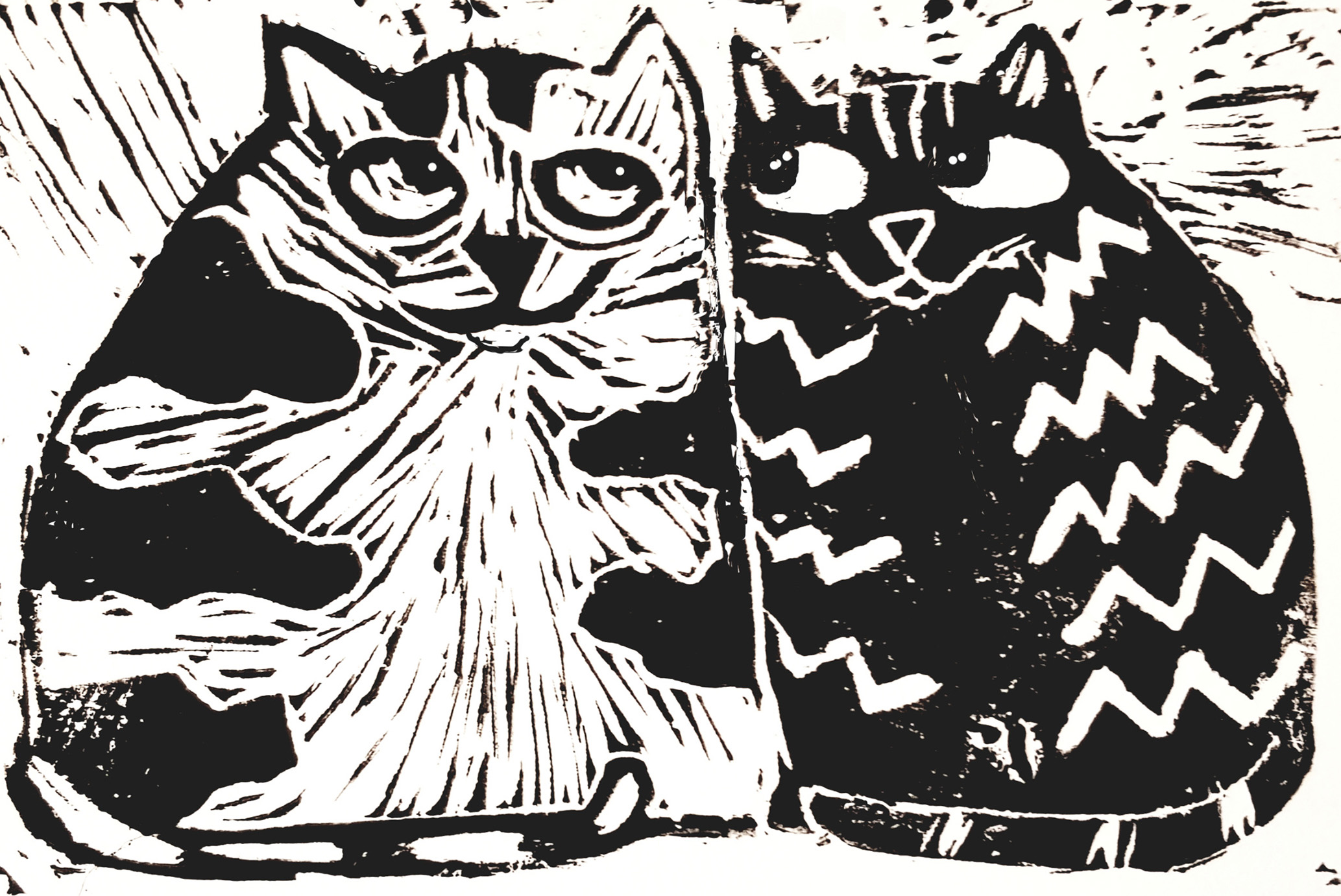 black and white birthday cards