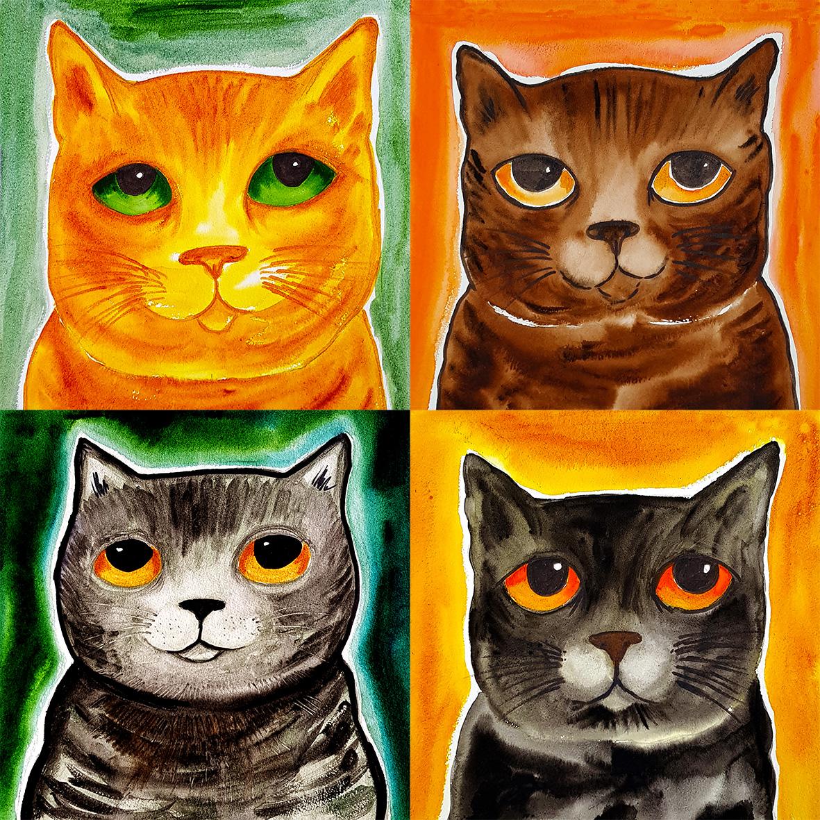 Greetings Card Cat Birthday