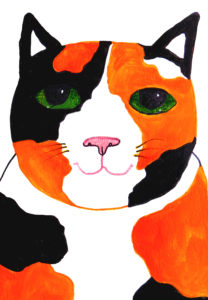 card, cards, birthday cards, tortie cat, tortoishell cat, cat cards, greetings cards, jane adams