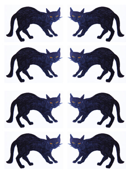 black cat, card, cards, greetings card, good luck cards, jane adams, lucky black cats