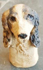 spaniel, cocker spaniel, springer spaniel, ceramic spaniel, ceramic dog, rogues gallery, handmade stoneware, pottery dogs, pottery spaniels