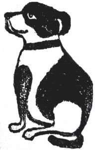 card, cards, greetings card, dog, staffie, staffordshire bull terrier, linocut