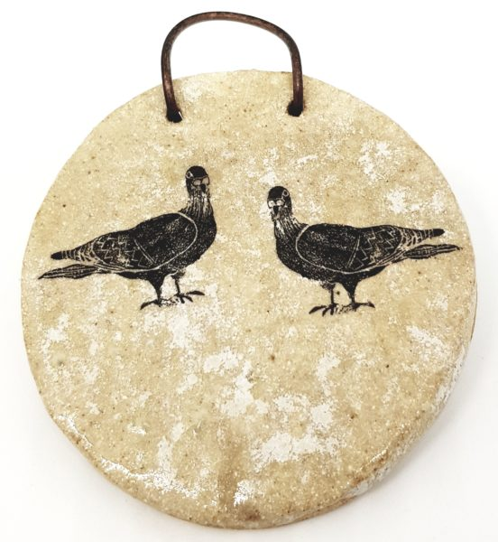 chicken design, linocut, chickens, handmade ceramics, wall plaque, wall hanging,