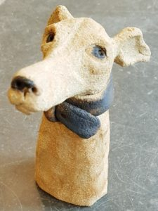 whippet, dog, handmade stoneware, animal ceramics, jane adams ceramics, clay, cornwall, sst jut, dog themed ottery dogs