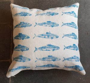 CUSHION, linen, floor CUSHION, hand printed, pinpoint CUSHION, home furnishing,