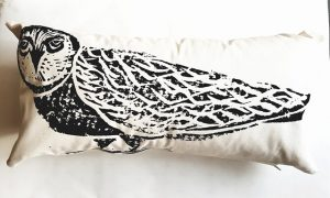 cushion, printed cushion, digitally printed cushion, owl cushion, owl cushion cover, handmade, jane adams