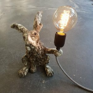 lamp base, hare lamp, vintage lights, lamp base, handmade lamp bases, ceramic hares, vintage,