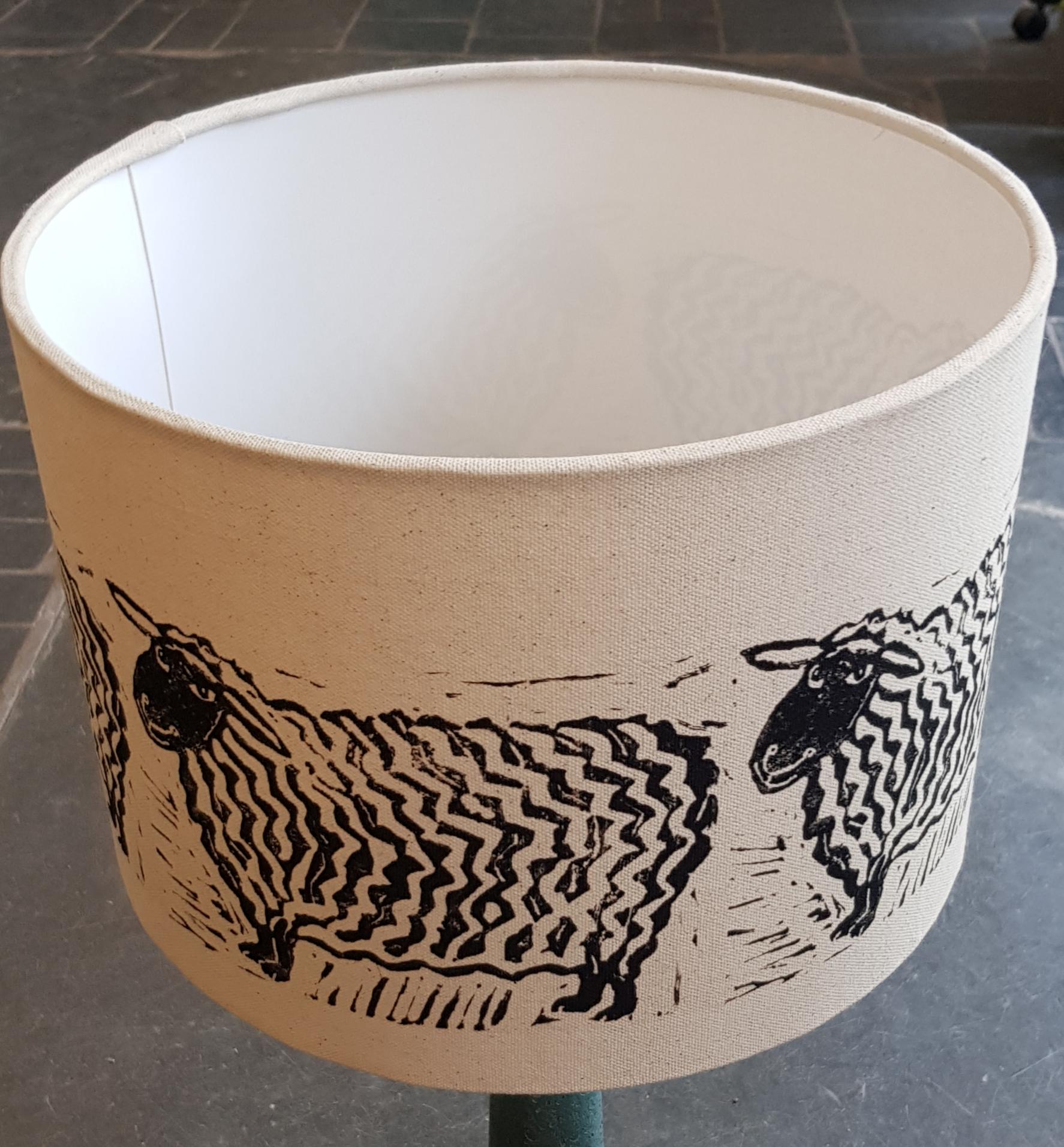 Handmade lampshade 30 cm sheep design jane adams ceramics table lamp shade shade lampshade lampshades handmade lampshades handmade shades aloadofball Choice Image