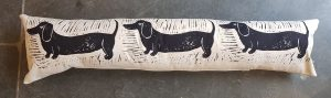 draught excluder, draught excluder cushion, cushion, daschund draught excuder, daschund design
