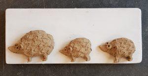 hedgehogs, hoglets, ceramic hedgehogs, hedgehog wall plaque, jane adams ceramics