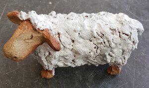 sheep, ceramic sheep, handmade stoneware, pottery sheep, sheep ornaments, jane adams ceramics, woolly jumpers, wool, white sheep