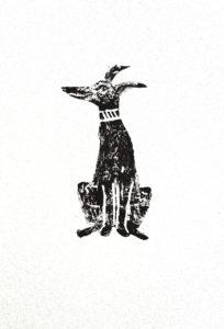 greetings card, cardd, cards, bithday cards, dog linocut