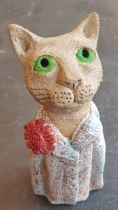 ceramic cats, pottery cat, stoneware cats, studio pottery, handbuilt studio pottery, cat gifts, jane adams ceramics