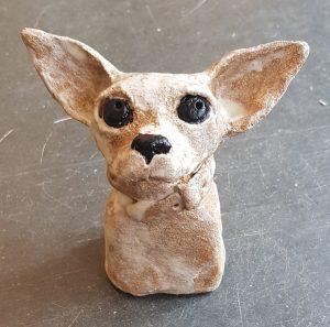 ceramics, ceramic dog, dog, chihuahua, ceramic chihuahua, pottery, pottery chihuahua, dog gift, handbuilt pottery, stoneware, pottery dogs, jane adams ceramics, cornwall
