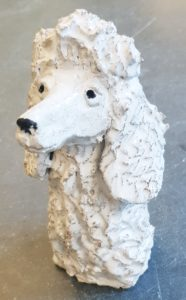 poodle, poodle ornament, ceramic poodles, dogs, poodle ornament, rogues gallery, jane adams ceramics, dog gifts