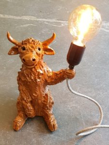 lamp, cow, cows, highland cows, highland cow, scottish themed gifts, lamp base, handmade lamps, pottery lamps, pottery lampbases, studio pottery,