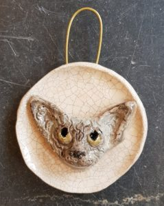 devon rex cat, pottery cat, devon rex pottery, wall plaque, handmade, stoneware, cat gifts, jane adams ceramics,