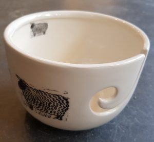 yarn bowl, knitting bowl, sheep design, lincut , ceramic yarn bowl, bowl, ceramic, earthenware, pottery yarn bowl, jane adams ceramics, sheep,