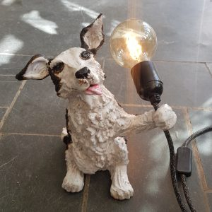sheep dog, border collie, ceramic dogs, ceramic sheep dog, pottery border collie, pottery sheep dog, ceramic lamps, lamp base, vintage bulb, jane adams ceramics