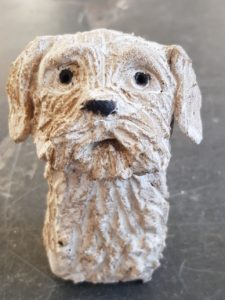 ceramic dogs, pottery dog, dog ornaments, doggy gifts, dog ceramics, handbuilt eramics, handmade dogs, jane adams ceramics, cornwall