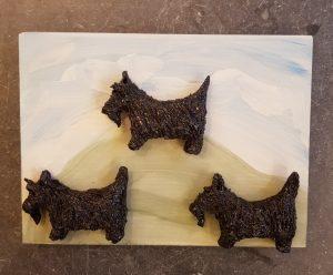 scottie, scottie dog, scottie dogs, scottish terrier, terrier dogs, scottish, dog gifts, pottery scotties, jane adamsd ceramics, wall plaque