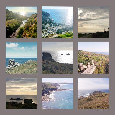 views of west penwith, photo cushion,handmade,homewares,westcornwall