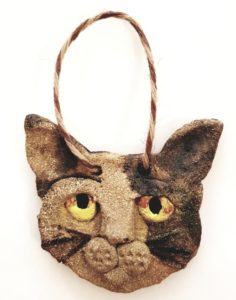 cat, ceramic cats, ceramic cat, wall hanger, wall plaque, cat ornament, pottery cats, cat gifts, cat ornament