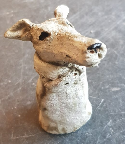 ceramics, ceramic dog, pottery dog, pottery whippet, rogues gallery, handmade ceramics, dog ornament, whippet ornament, jane adams ceramics, cornwall
