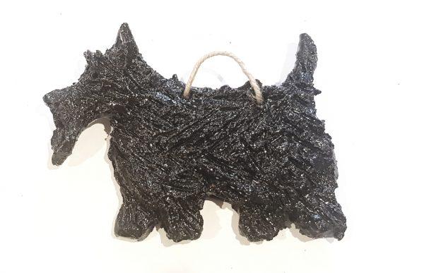 scottish terrier, scottie, scottie dog, ceramic dog, pottery scottie dog, scotty dog, scottie ornaments, handmade scottie ceramic dog, wall hanger, jane adams ceramics
