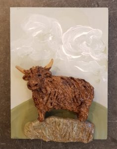 highland cow, cow,coo, highland cows, highland cow wall plaque, pottery cows, pottery highland cows, highland cow wall plaque, ceramic cow, handmade studio pottery, jane adams ceramics. cow gifts