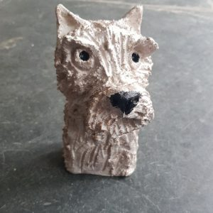 west Highland white, westie, westie dog, ceramic westie dog, westie ornaments, pottery westies, jane adams ceramics, ceramic dogs, handbuilt ceramic dog ornaments