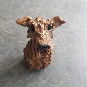 fox terrier, pottery fox terrier, ceramic dog, pottery dogs, handmade ceramic fox terrier, terrier, dog ornaments, fox terrier ornament, jane adams ceramics, cornwall