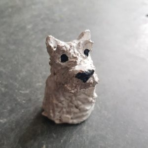 westie, west highland white, westie terrier, westie dog, pottery westie, pottery dog, rogues gallery, westie ornament, handmade westie, studio pottery westie, jane adams ceramics