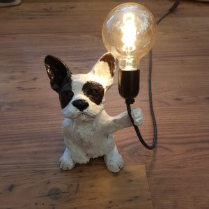 french bulldog, frenchie, dog, lampbase, animal lampbase, dog lamp, cerramic lamp, vintage lamps, vintage bulbs,