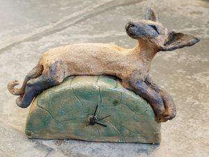 clock, handmade clock, ceramic clock, cat clock, siamese cat, ceramic cats, pottery clocks, jane adams ceramics,