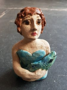 ceramic people, ceramic person, pottery fish, pottery figurines, studio pottery, handmade ceramics, studio ceramics, handmade, cornwall, jane adams ceramics