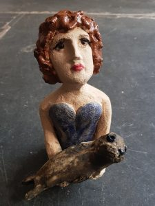 ceramics, ceramic people, pottery people, pottery figurines, seal, handmade, stoneware, studio ceramics, studio pottery