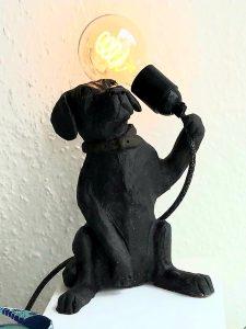 labrador, black labrador, labrador dog, black lab, dog lamp, lamp base, dog lamp base, handmade stoneware, studio pottery lamp, dog gifts, cornwall, jane adams ceramics