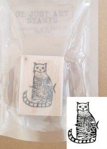 st just art stamp, art stamp, rubber stamp, stamping, rubber stamping, lino printing, cat mp, jane adams, cornwall