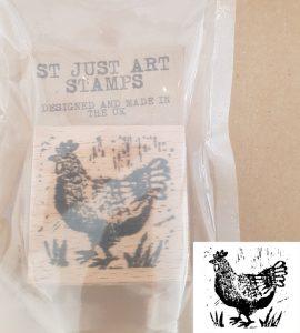 rubber stamp, stamping, stamp, chicken stamp, printing, lino printing, collaging, scrapbooking,