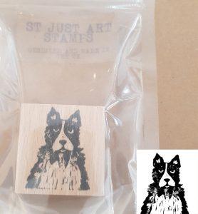 art stamp, stamp, rubber stamp, printing, collie dog stamp, dog stamp, collaging, scrapbooking, lino printing