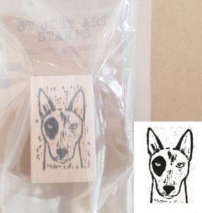 st just art stamp, art stamp, stamping, rubber stamping, printing, lino printing, scrapbooking, collaging, printing, linocut, engholish bull terrier, dog stamps