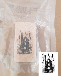 st just art stamp, art stamp, rubber stamp, stamping, rubber art stamping, cornish stamps, engine house stamp, lino printing, printing, scrap booking, collaging, jane adams