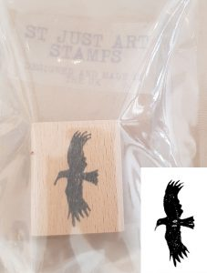 st just art stamp - flying chough mini