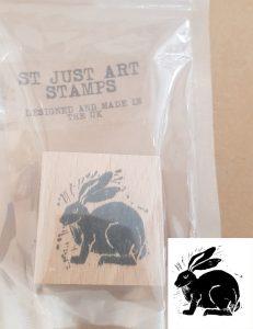 st just art stamp,, art stamp, stamp, rubber stamp, stamping, hare, lino printing, stamping, scrapbooking, collaging, jane adams